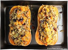 stuffed roasted butternut squash it doesn t taste like chicken