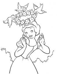 free printable snow white coloring pages cartoon cartoon free