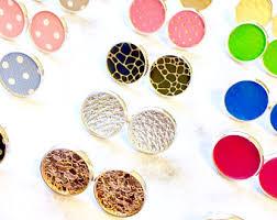 nickel free earrings australia cowhide earrings in silver or rosegold leather hide hair