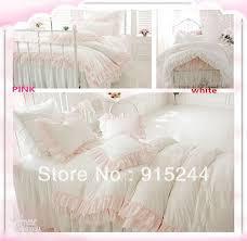 White Ruffled Comforter Aliexpress Com Buy Lace Princess White Red Purple King Bedding