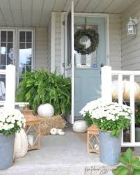 Good Door Setting Fall Front Porch Kim Power Style