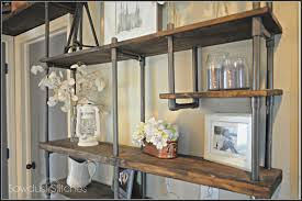 use pvc pipe to build an inexpensive industrial style shelf
