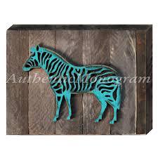 zebra decorative shabby chic rustic wooden board home decor