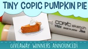 thanksgiving announcement thanksgiving copic marker pie giveaway winners announcement