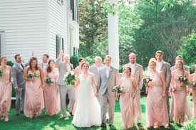 wedding party attire pink and grey wedding at the matthews house sb g mag
