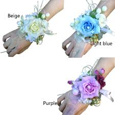 3pcs lot bridal bridesmaid wrist corsage silk flowers for home