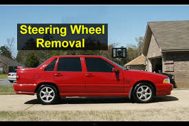 volvo steering wheel steering wheel and drivers side air bag removal volvo s70 v70