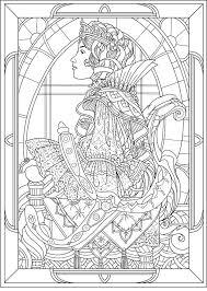 queen art nouveau style