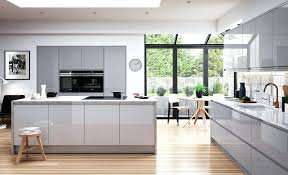 Interiors Kitchen Grey Kitchen Cabinets With Black Countertops Gloss Kitchens