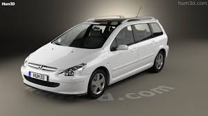 peugeot ex1 360 view of peugeot 307 sw 2001 3d model hum3d store
