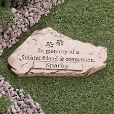 pet memorial garden stones personalized pet memorial stones ebay