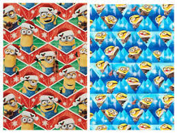 minion wrapping paper despicable me minions gift wrap wrapping paper roll christmas