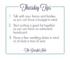 how to be a wedding planner thursday tips how to jump start your wedding planning the