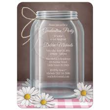 invitations by michaels party invitations rustic mason jar daisy pink gingham