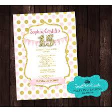 Princess Birthday Invitation Cards Polka Princess Birthday Party Invitations Sweet 15 Quinceanera