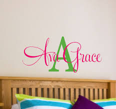 Nursery Name Wall Decals by Name Wall Stickers For Kids Home Design