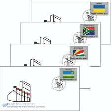 Flag Emoticons 2018 Flag Series Fdc Single Sheet 55 Un Stamps