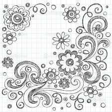 drawn flower paper pencil and in color drawn flower paper