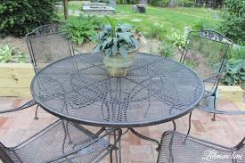 Wrought Iron Patio Tables Spray Paint Patio Furniture Our Vintage Wrought Iron Patio Set