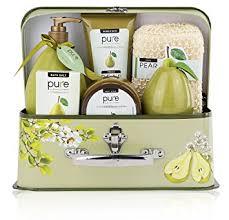 Bath Gift Basket Amazon Com Essence Of Luxury Spa Gift Basket Bath Set Pure Pear