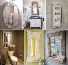 how about making a diy mirror for your bathroom
