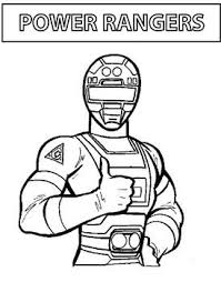 power ranger thumbs power rangers coloring pages free