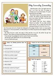 879 free esl family worksheets