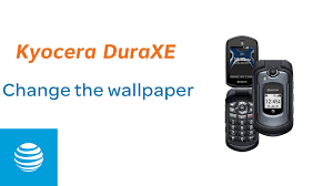 At T Home Phone Learn And Customize The Home Screen On The Kyocera Duraxe At U0026t