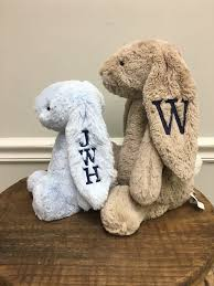 monogrammed bunny personalized bunny rabbit wiregrass designs