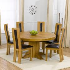 solid oak table with 6 chairs trina solid oak round dining table with 6 howard chairs robson