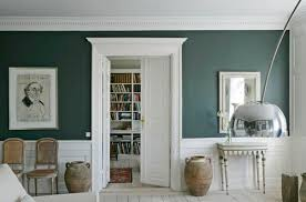 best colors for entryway green and white molding dark green