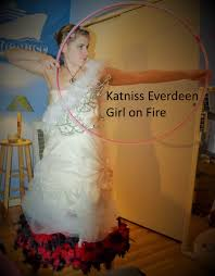 katniss everdeen wedding dress costume and the winner is hoops