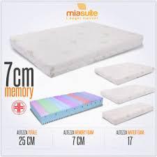 materasso memory materasso memory sfoderabile alto 25 cm premium plus materasso 7