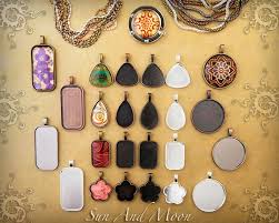 diy glass pendant necklace images 25 piece complete diy kit photo jewelry pendant kits w fx glass jpg