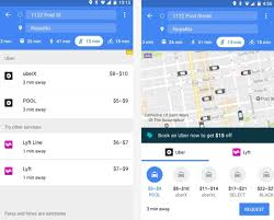 google maps now displays uber drivers in real time