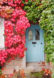 the english cottage autumn colors on an english cottage stock photo image of rustic