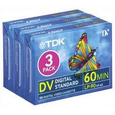 dv cassette tdk pack de 3 cassettes mini dv dvm 60 cassette pour camescope