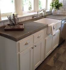 Best  Concrete Kitchen Countertops Ideas On Pinterest Farm - Kitchen counter with sink