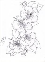 coloring pictures of hibiscus flowers beautiful flower coloring pages free hibiscus flower coloring