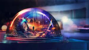 past memories glass globe digital art desktop hd wallpaper