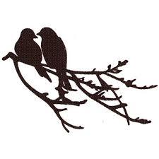 crafts cutting die vintage flourishes 2 birds on a branch