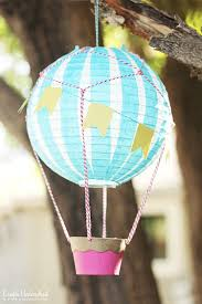 hot air balloon decorations how to make a hot air balloon vintage style