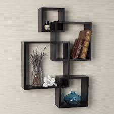 Decorative Wall Shelf Sconces Amazon Com Danya B Decorative Intersecting Cubes Shelf Espresso