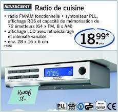 radio de cuisine lidl promotion radio de cuisine silvercrest radio de cuisine