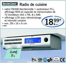 radio cuisine lidl promotion radio de cuisine silvercrest radio de cuisine