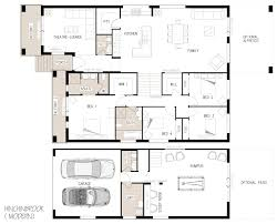 sloping lot house plans modern house plans on a slope with photos single story hillside