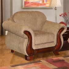 Transitional Living Room Furniture by Transitional Living Room Everlast U213 Light Brown Chenille