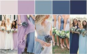mismatched purple and lavender bridesmaid dress ideas bride link