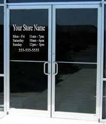glass door decals stickers store door u0026 interior single prehung doors