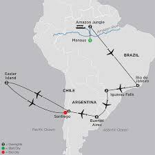 Amazon Rainforest Map Tour The Amazon U0026 Easter Island Cosmos Budget Tours